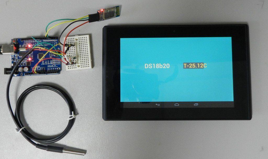 Подключение DS18b20 к программе Arduino