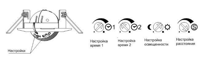 Параметры настройки датчика движения