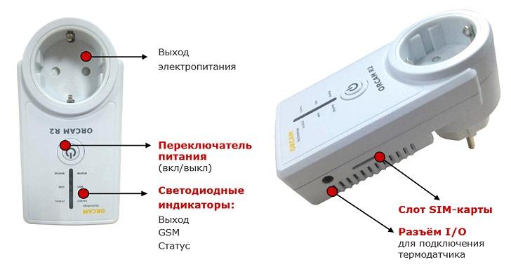 Дистанционная GSM розетка Orcam R2
