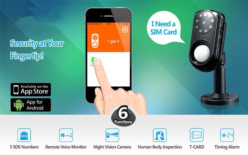 Функциональные возможности беспроводной GSM-камеры