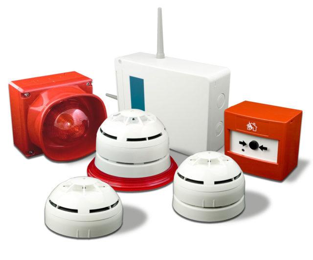 Монтаж датчиков пожарной сигнализации