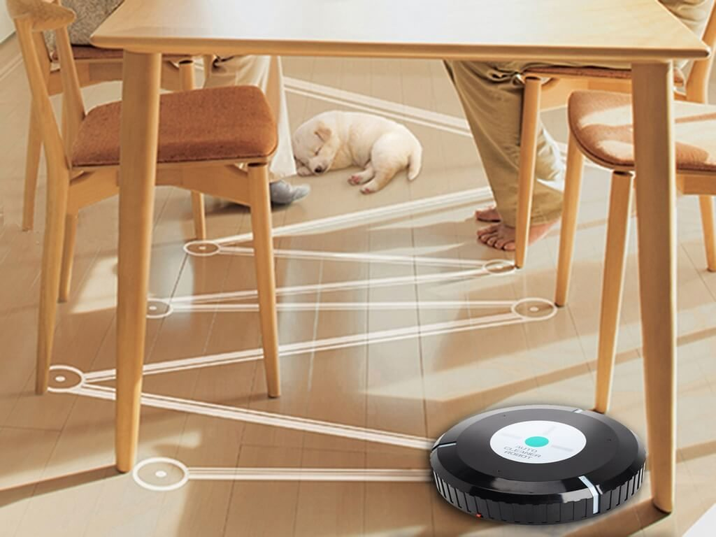 Робот-пылесос оснащен лазерным дальномером