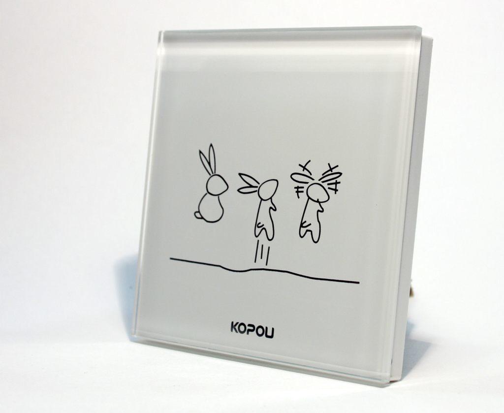 Сенсорный выключатель света Kopou белый на 3 зоны