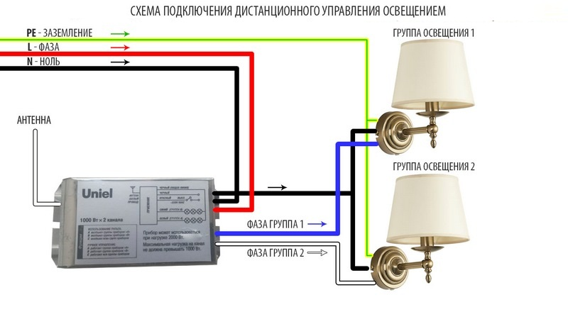 Схема дистанционного управления освещением