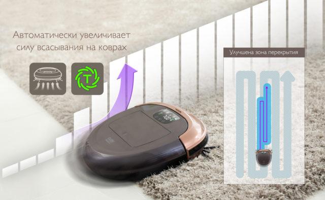 Этот робот-пылесос способен производить не только сухую очистку полов с различными покрытиями, но и влажную протирку для обеспечения ещё большей чистоты в доме