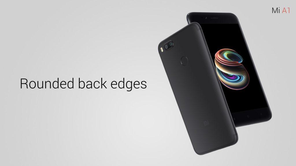 У Xiaomi Mi A1 закругленные края