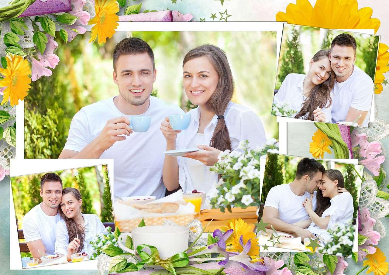 Коллаж онлайн с открытками